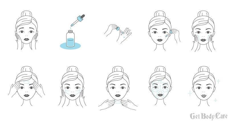 facial serum steps