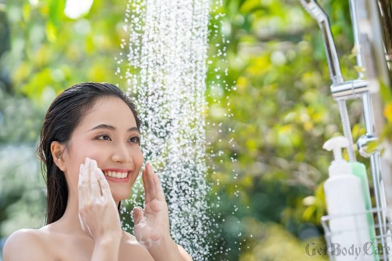 winter skin care shower
